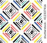 geometric brushstrokes seamless ... | Shutterstock .eps vector #412337416