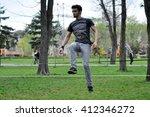 cluj napoca  romania   april 1  ... | Shutterstock . vector #412346272