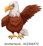 eagle standing on white... | Shutterstock .eps vector #412346572