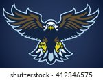 eagle spread the wings   Shutterstock .eps vector #412346575