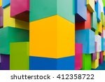 corner of a wall of... | Shutterstock . vector #412358722