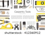carpentry and woodwork tools on ... | Shutterstock . vector #412360912