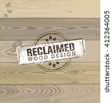 reclaimed wood design element.... | Shutterstock .eps vector #412364005