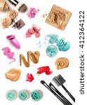 make up products color sample... | Shutterstock . vector #412364122
