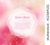 summer glowing background | Shutterstock .eps vector #412369132
