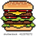 vector illustration of burger   ... | Shutterstock .eps vector #412370272