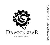 dragon logo.dragon gear log... | Shutterstock .eps vector #412370542