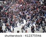 people crowd background ... | Shutterstock . vector #412375546