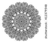 mandala. round ornament pattern.... | Shutterstock .eps vector #412379548