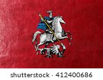 flag of moscow  painted on... | Shutterstock . vector #412400686