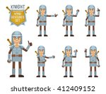 set of knight characters... | Shutterstock .eps vector #412409152