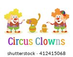 Set Of Cheerful Kind Circus...
