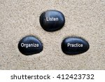 listen  organize  practice...   Shutterstock . vector #412423732