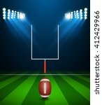american football on field with ... | Shutterstock .eps vector #412429966