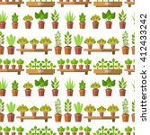 vector seamless pattern with... | Shutterstock .eps vector #412433242