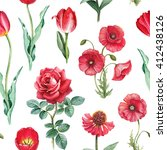 Watercolor Flowers Illustratio...