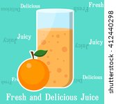orange juice with whole orange... | Shutterstock .eps vector #412440298