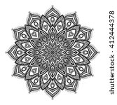 vector beautiful mandala | Shutterstock .eps vector #412444378