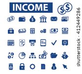 income icons  | Shutterstock .eps vector #412449286