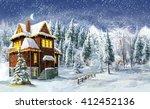 Christmas Winter Happy Scene  ...