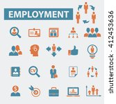 employment icons  | Shutterstock .eps vector #412453636