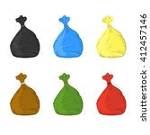 separate garbage bags for waste ...   Shutterstock .eps vector #412457146
