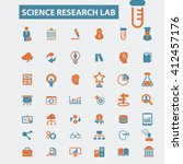 science research lab icons  | Shutterstock .eps vector #412457176