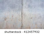 Abstract Tin Texture With Rust...