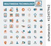 multimedia technology icons    Shutterstock .eps vector #412457962