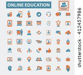 online education icons  | Shutterstock .eps vector #412457986