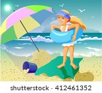 vector illustration children... | Shutterstock .eps vector #412461352