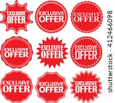 exclusive offer red label.... | Shutterstock .eps vector #412466098