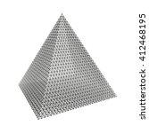 pyramid. regular tetrahedron.... | Shutterstock .eps vector #412468195