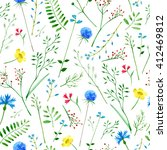 floral seamless pattern... | Shutterstock . vector #412469812