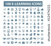 learning icons  | Shutterstock .eps vector #412474222