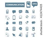communication icons  | Shutterstock .eps vector #412474435
