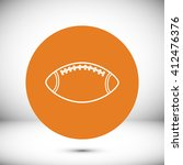 rugby ball icon  | Shutterstock .eps vector #412476376