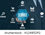 service technology... | Shutterstock . vector #412485292