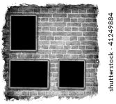 blank photo frames on wall | Shutterstock . vector #41249884