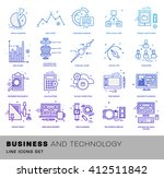 thin line icons set. business... | Shutterstock .eps vector #412511842