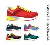 sports shoes vector set.... | Shutterstock .eps vector #412514356
