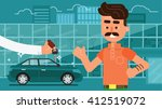 rent a car and trading cars in... | Shutterstock .eps vector #412519072