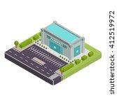 isometric pharmacy vector... | Shutterstock .eps vector #412519972