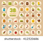garden farm flat vector icon... | Shutterstock .eps vector #412520686