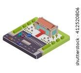isometric restaurant vector... | Shutterstock .eps vector #412520806