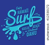 surf typography  t shirt... | Shutterstock .eps vector #412530172