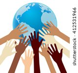 group of diversity hand... | Shutterstock .eps vector #412531966