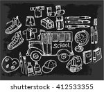 back to school  hand drawn ... | Shutterstock .eps vector #412533355