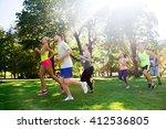 fitness  sport  friendship ... | Shutterstock . vector #412536805
