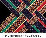 geometric ethnic oriental... | Shutterstock .eps vector #412537666
